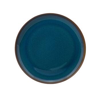 Crafted Denim plato llano, azul, 26 cm
