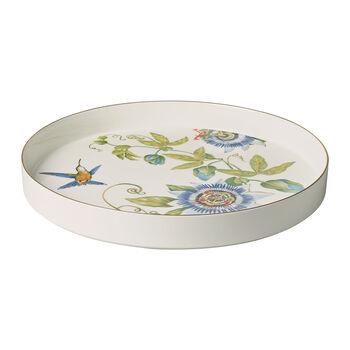 Amazonia fuente decorativa y para servir, diámetro de 33 cm, profundidad de 4 cm, blanco/colorido