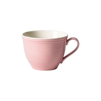 Color Loop Rose taza de café sin platillo de 12 x 9 x 7 cm
