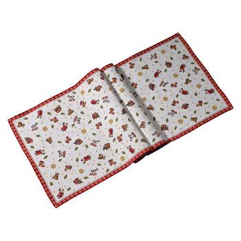 Toy's Delight camino de mesa XL de tapiz, rojo/varios colores, 49 x 143cm