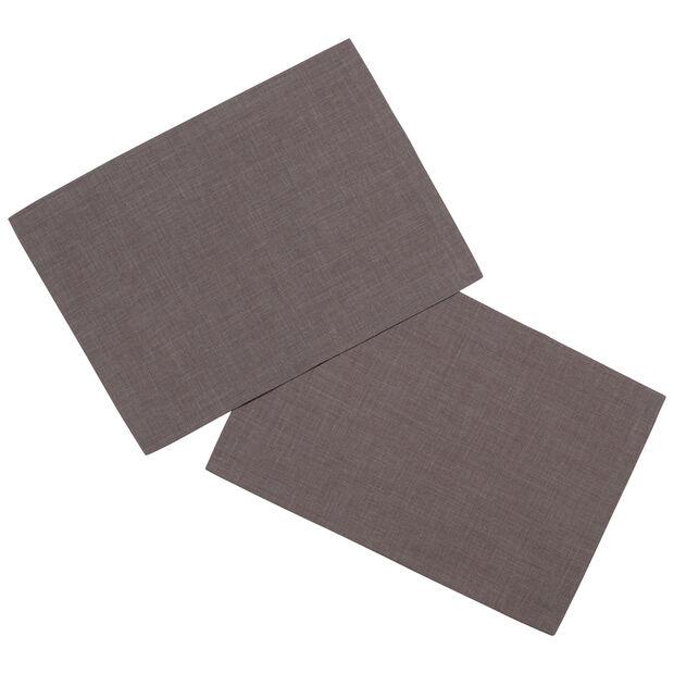 Textil Uni TREND Salvamanteles, 2 piezas, grafito, 35x50cm, , large