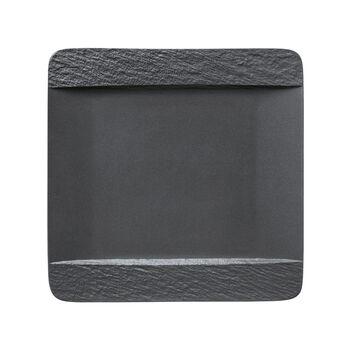 Manufacture Rock plato llano cuadrado, negro/gris, 28 x 28 x 2 cm