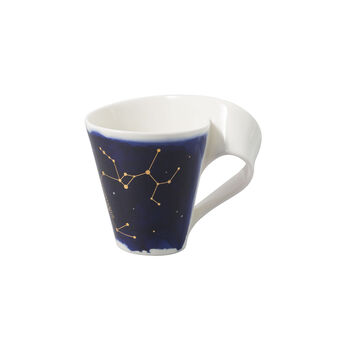 NewWave Stars taza con motivo de Sagitario, 300 ml, azul/blanco