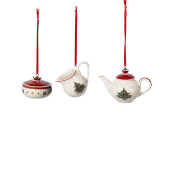 Toy's Delight Decoration Ornamentos juego café 3 pzas. 6,3cm