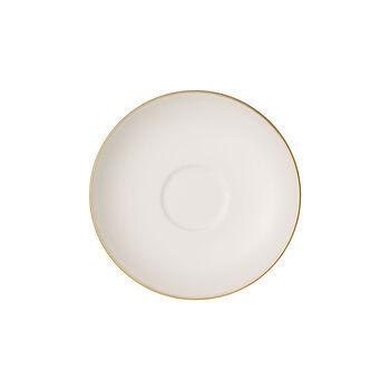Anmut Gold platillo para taza de moca y expreso, diámetro de 12 cm, blanco/oro