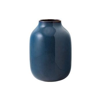 Lave Home jarrón Shoulder, 15,5x15,5x22cm, azul claro monocromo