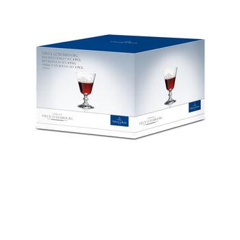 Vieux Luxembourg copa de vino tinto, 4 unidades