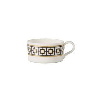 MetroChic taza de té, 230 ml, blanco, negro y oro