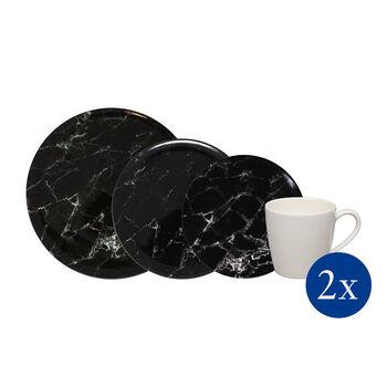 Marmory set combinado Black, negro, 8 piezas