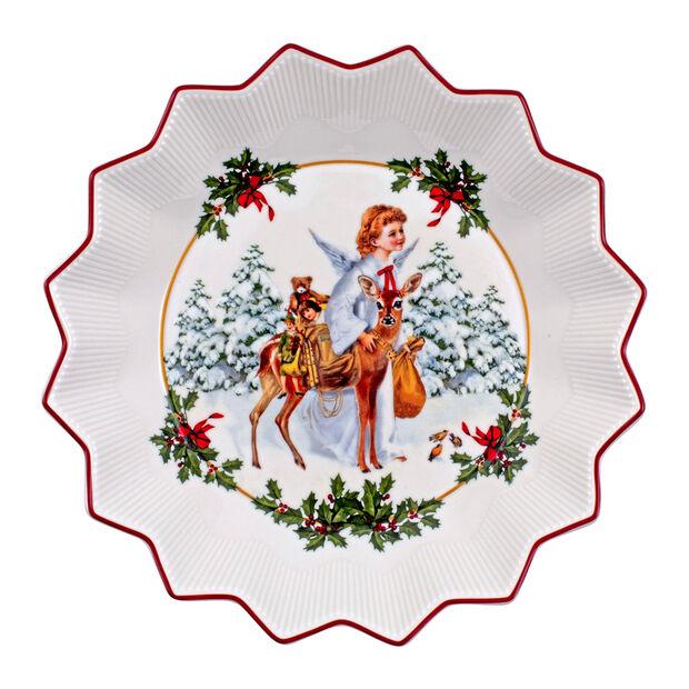 Toy's Fantasy fuente grande con motivo de Niño Jesús, varios colores/rojo/blanco, 24 x 24 x 4,5 cm, , large