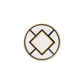 MetroChic salvamanteles, diámetro de 11 cm, blanco, negro y oro