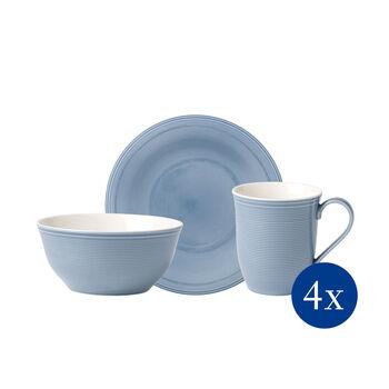 Color Loop Horizon set de desayuno, azul celeste, 12 piezas