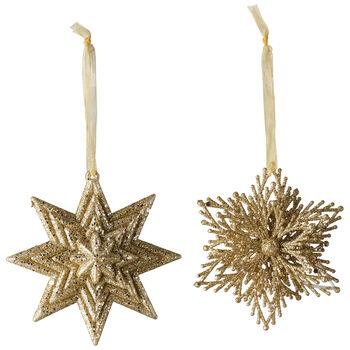 Christmas Decoration Pend estr/copo nieve S2 10cm