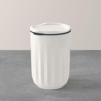 To Go & To Stay vaso, con tapa, 450ml, blanco
