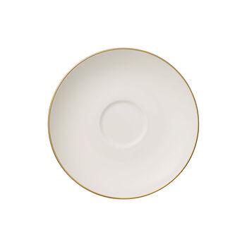 Anmut Gold platillo para taza de té, diámetro de 15 cm, blanco/oro