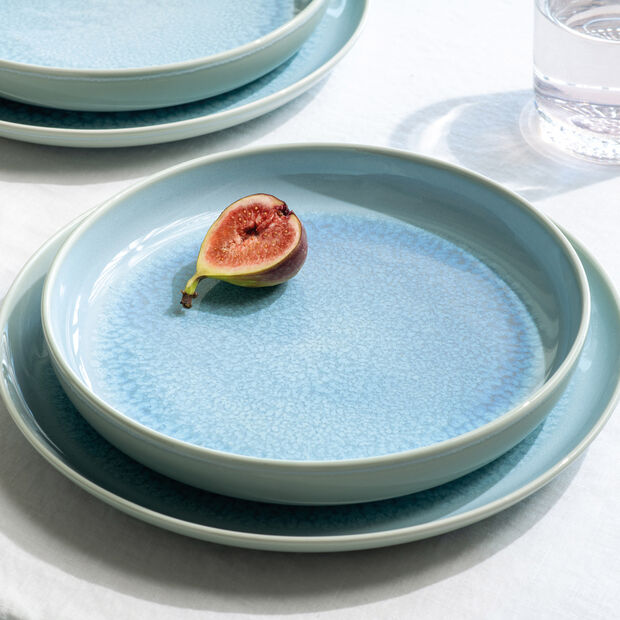 Crafted Blueberry plato llano, turquesa, 26 cm, , large