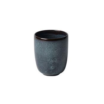 Lave gris taza grande sin asa de 9 x 9 x 10,5 cm