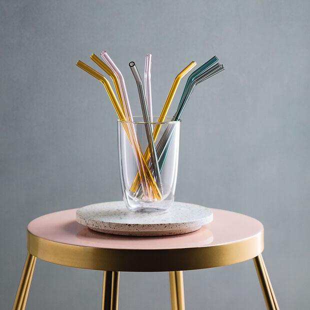 like.by Villeroy & Boch Artesano Hot&Cold Beverages Set de 5 pajitas cristal, , large