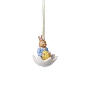 Bunny Tales adorno Max dentro de la cáscara de huevo
