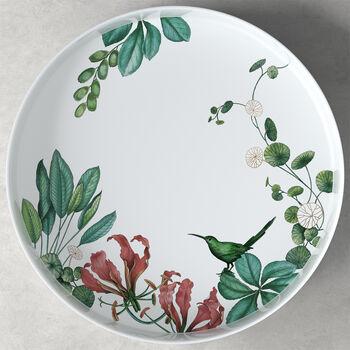 Fuente para servir/decorativa de Avarua Gifts, 33cm, blanco/multicolor