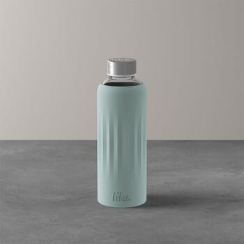 ToGo&ToStay botella de cristal, 0,5l, con revestimiento de silicona, verde menta