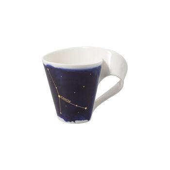 NewWave Stars taza con motivo de Cáncer, 300 ml, azul/blanco