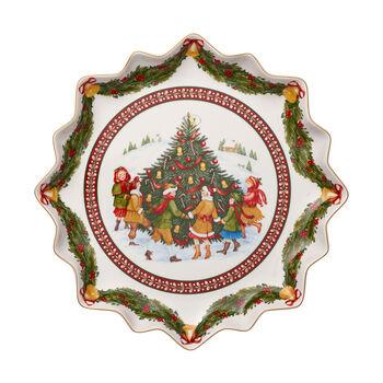 Toy's Fantasy Plato galletas hondo, baile alred. árbol 39x39x3,5cm