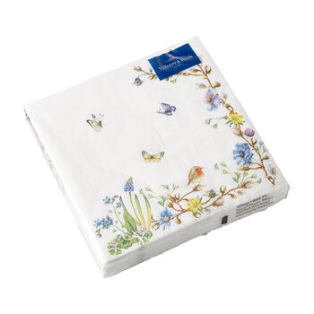 Easter Accessories servilletas, zarcillo de flores, 33 × 33 cm, 20 unidades