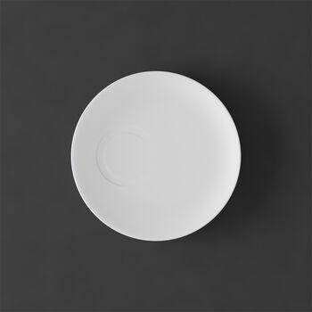 MetroChic blanc Plato taza moka 14,5x14,5x1,5cm