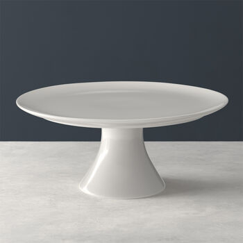 For Me fuente para tarta con pie, blanco, 30 x 30 x 13 cm