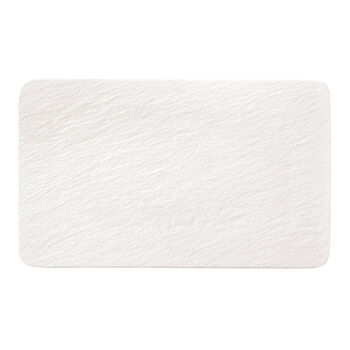 Manufacture Rock Blanc plato multifuncional rectangular, blanco, 28 x 17 x 1 cm