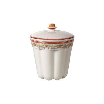 Winter Bakery Delight bote pequeño para bizcochos pequeños, rojo/varios colores, 13 x 13 x 16 cm, 720 ml