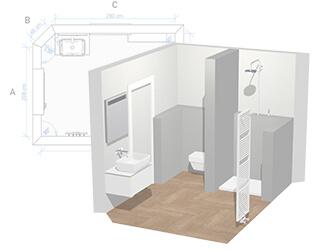 Planificador de baño 3D: Diseñe el cuarto de baño de sus ...