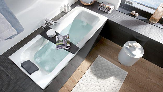 Baño pequeño amueblado de forma eficiente - Villeroy & Boch