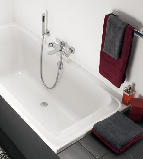 Baño pequeño amueblado de forma eficiente   villeroy & boch